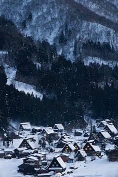 Snow in Historic Villages of Shirakawa-go, Gifu, Japan