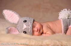Bunny Baby Hat and Diaper Cover Set by ColiesCrochet on Etsy, $27.95