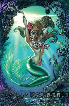 Little Mermaid as a Pin-Up Girl