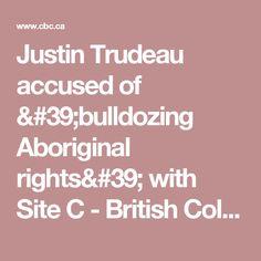 Justin Trudeau accused of 'bulldozing Aboriginal rights' with Site C - British Columbia - CBC News
