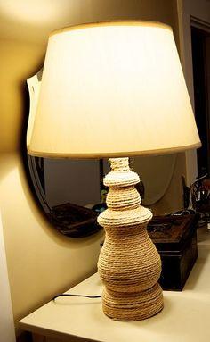 DIY Rope Lamp
