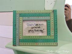 ruler, yardstick photo frame