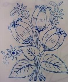 Floral Embroidery Patterns, Embroidery Motifs, Embroidery Transfers, Hand Embroidery Designs, Vintage Embroidery, Hawaiian Quilt Patterns, Basic Painting, Rustic Fabric, Butterfly Drawing