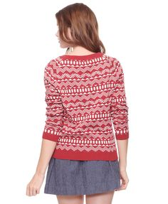 geo pattern jaquard sweater