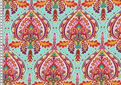 Weiteres - Flora Ornamente türkis Jersey - ein Designerstück von Fresh-and-Funny-kreatives-Naehstuebchen bei DaWanda