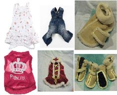 Small / Ex-Small Dog Attire / Apparel / Clothing - Set of 6 Items #Various