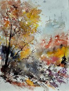 "Saatchi Art Artist Pol Ledent; Painting, ""watercolor 218022"" #art"
