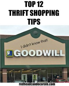 Top 12 Thrift Shopping Tips!! Good stuff to know!!