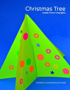 Christmas Tree made from triangles from Creative Connections for Kids