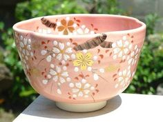 【京焼清水焼】色絵桜抹茶碗剛