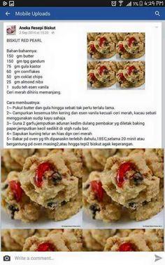 Biskut red pearl Brownie Cookies, No Bake Cookies, Yummy Cookies, Cake Cookies, Biscuit Cookies, Biscuit Recipe, Princess Cookies, Food Lists, Christmas Desserts