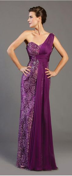 Stunning Elegant J'adore Dresses    Use blue instead of purple then the rest of the fabric