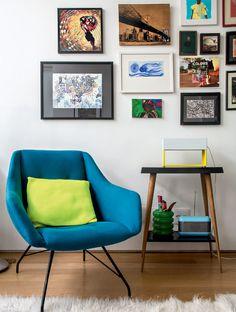 Apartamento pequeno: colorido e despojado