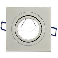 2,23€ 1*GU10 Corpo Quadrato Bianco  SKU: 3605 | VT: VT-782
