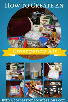 How to Create an Emergency Kit--great to know for tornado season