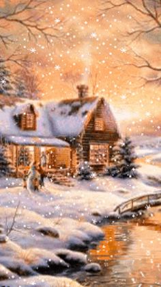Merry Christmas Pictures, Christmas Scenery, Winter Scenery, Cozy Christmas, Beautiful Christmas, Xmas, Beautiful Winter Pictures, Winter Images, Image Nature