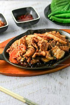 Korean Spicy Marinated Pork (Jeyuk Bokkeum) | MyKoreanKitchen.com