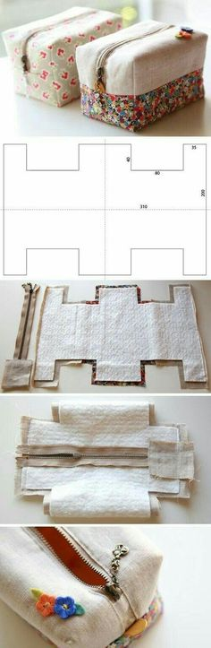 Tendance Sac 2018 : How to make cute block zipper pouch / handbag. DIY photo tutorial and template Ideas diy bag cute handbags for 2019111 World's Most Loved DIY Projects - Homesthetics MagazineMake yourself a make up bag / pencil case with photo Sewing Hacks, Sewing Tutorials, Sewing Crafts, Sewing Patterns, Sewing Kit, Diy Crafts, Beginners Sewing, Crochet Patterns, Purse Patterns