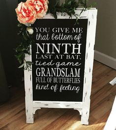 Wedding Chalk Board Sign // Wedding Chalk Board Easel // Baseball // Large Easel by cmorrisdesigns on Etsy https://www.etsy.com/listing/271819618/wedding-chalk-board-sign-wedding-chalk