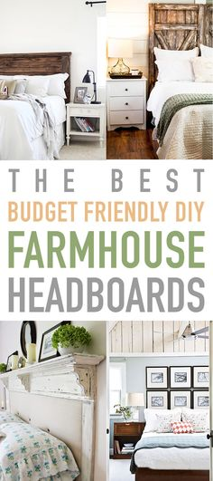 The Best Budget Friendly DIY Farmhouse Headboards. Looking to change up the look in your Bedroom with a new Headboard? Well then. check these out. they are fun. will look fabulous and they are Budget Friendly! Bedroom Decor On A Budget, Rooms Home Decor, Home Decor Furniture, Diy Home Decor, Bedroom Ideas, Redoing Furniture, Decor Room, Bed Ideas, Bedroom Inspiration