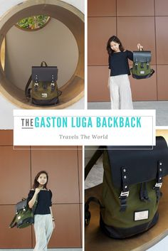 Gaston Luga Backpack travels round the world with you