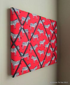 16x20 Memory Board Bow Holder Ribbon Board Red by MemoriestoYou, $68.00