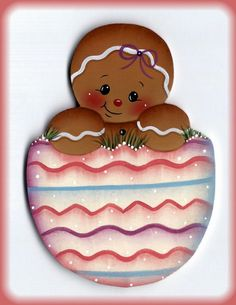 This is a painting pattern that I have created for one of my designs:Gingers Easter Egg ornament or fridge magnet. This e-pattern includes a