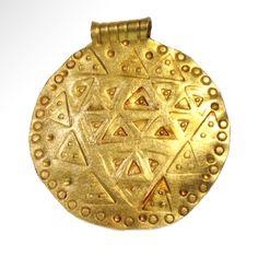 Viking Gold Shield Pendant, 10th-11th Century AD