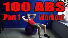 100 Abs Exercises on the Ball Part 1 Workout & Tutorial