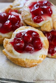 Cherry Cream Cheese Danish is an easy homemade breakfast pastry filled with cream cheese and cherry pie filling. – Rebel Without Applause Cherry Desserts, Cherry Recipes, Easy Desserts, Health Desserts, Breakfast Pastries, Breakfast Dishes, Breakfast Cheese Danish, Crescent Roll Recipes, Crescent Rolls