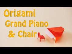 🔴Origami Grand Piano & Chair🔴 - How to Make Paper Grand Piano & cute Minutes) Oragami, Origami Paper, Origami Furniture, Grand Piano, Origami Stars, How To Make Paper, Paper Size, Make It Yourself, Chair
