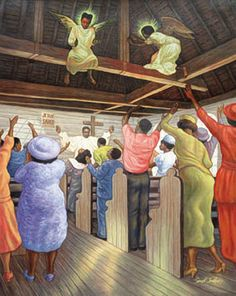 "Beautiful African American ""Angel In The Rafters"" Art Print Poster 24""x36"" on Etsy, $5.00"