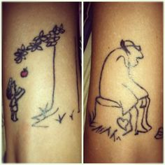 Giving tree tattoo  #tattoos  I totally want these two tats. Represents my career as an educator to the young and now my new career of helping one our fragile and vulnerable elderly population.