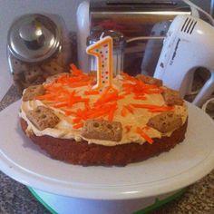 homemade doggy cake