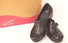 Dansko Tamara Leather Loafer Clogs 41/.510-11 Brown Work Cute Fun Wear w/Slacks #Dansko #ClogsLoafersMoccasins #WeartoWorkDressyCasual