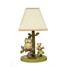 Transform your little one's nursery into a magical space with Lambs & Ivy's Enchanted Forest Lamp. Its charming inhabitants frolic amongst beautiful textures in a soothing, natural color palette that is sure to comfort and delight. Owl Room Decor, Nursery Decor, Nursery Ideas, Nursery Lamps, Babyroom Ideas, Nursery Mobiles, Bedroom Decor, Owl Nursery, Nursery Themes