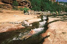 Slide Rock State Park in Sedona - Use the naturally smooth water shoot along the slippery creek bottom to 'slide' down the creek.