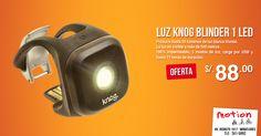 ¿Sales a pedalear muy temprano o de noche? Entonces debes aprovechar esta oferta! La luz led #Knog #Blinder te proporciona el equilibrio perfecto entre el ancho y la distancia de luz para iluminarte a ti y al camino de manera segura. En #Motion queremos que tus recorridos sean seguros y por ello la tenemos en oferta a S/. 88