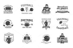 Football Labels Set on Creative Market