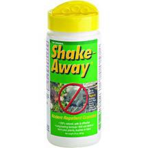 Shake Away Rodent Repellent- 	Fox and bobcat urine scent for control of mice, rats, moles, voles & shrews.