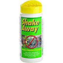 Shake Away Rodent Repellent- Fox and bobcat urine scent for control of mice, rats, moles, voles & shrews.