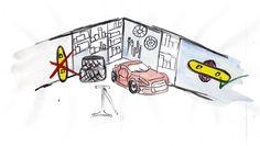 Snowboard storage rack Storage Rack, Snowboard, Snoopy, Display, Character, Art, Floor Space, Art Background, Billboard