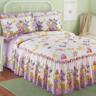 Bellamy Quilt-Top Butterfly Bedspread - 33738