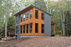 A 1,000 square feet, energy efficient home in Poland, Maine. Designed by David Matero Architecture.
