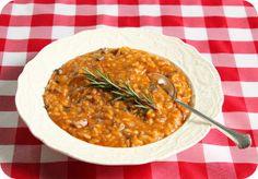 vegan pumpkin sausage sage risotto