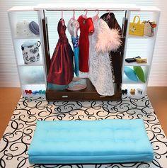 make doll walk-in closet