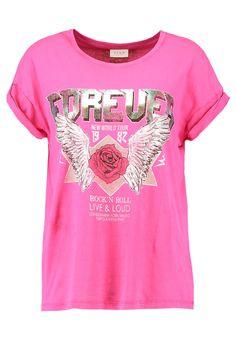 Vila VIEVY  - T-Shirt print - pink für 26,95 € (08.11.17) versandkostenfrei bei Zalando bestellen.