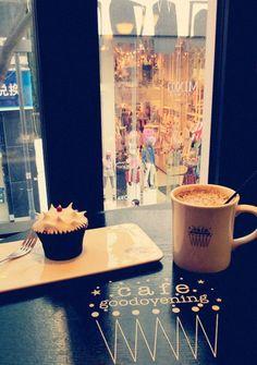 Cafe Goodovening, Myeongdong, Seoul.