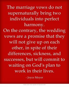 Exactly. Wedding vows are for so many just words. Promises made before God that include sickness, poorer, worse. Not just the good, better, richer. 24/7, it takes work, but it's so worth it.