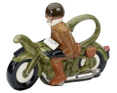The 'Motorcycle Dispatch Rider ' full size Teapot